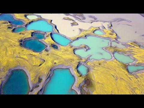 Drone Captures Iceland's Secret Lakes