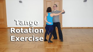 Tango Technique -  Rotation Exercise in Tango
