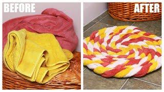 DIY Recycled Towel Bathmat
