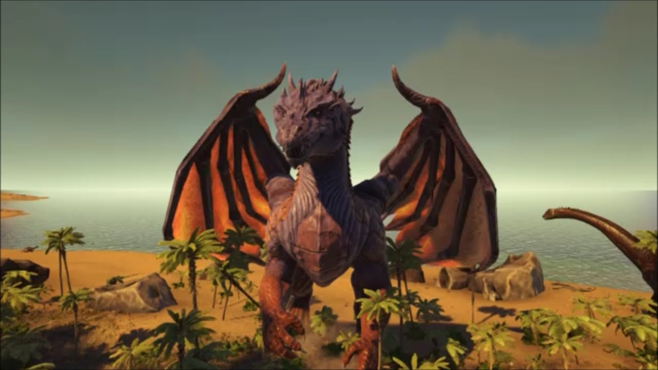 Ark Survival Evolved How To Spawntame The DRAGON Boss YouTube