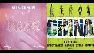 Tusa x China [Mashup] - Karol G, Anuel AA, Nicki Minaj, Ozuna, J Balvin & Daddy Yankee