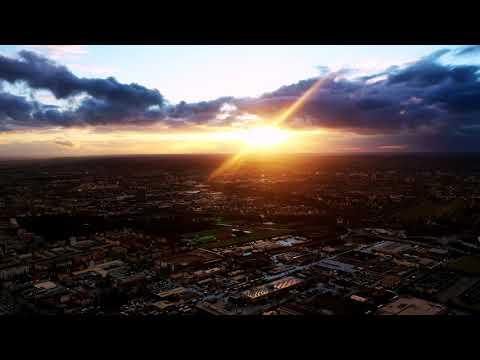 Dramatic Sunset   Augsburg/Germany  Timelaps  Dark Clouds  Rain  DJI Mavic 2 Pro
