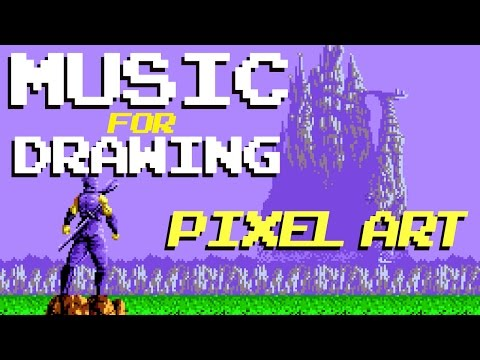 Music for drawing pixel art