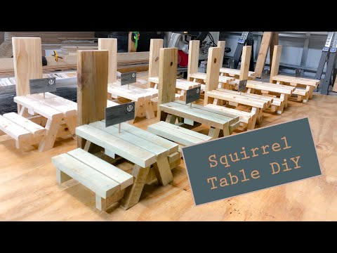 diy-squirrel-table-feeder---how-to-build-mini-picnic-table---woodworking---scrap-wood-projects---4k