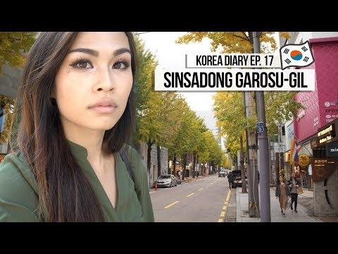 KOREA DIARY Ep. 17 │SHOP with ME! Sinsadong Garosu-gil Road (신사동 가로수길)