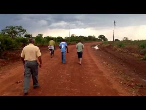 Walking on the red African clay in Zambia