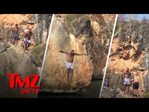 LeBron Jumps Off A Cliff! | TMZ TV