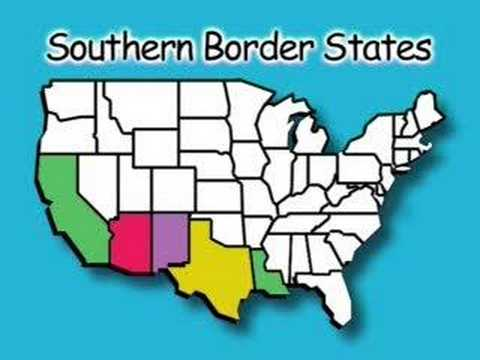 Southern Border States States Capitals Songs YouTube - Southern us states map borders
