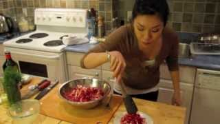 Beet And Carrot Slaw With Dill Dijon Dressing I Debbie Wong's Wok And Gong Ep.13