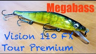 Megabass Vision 110 FX Tour Premium Review + Underwater Footage