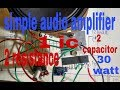 How To Make Simple Audio Amplifier Only 6283 Ic 100 Working mp3