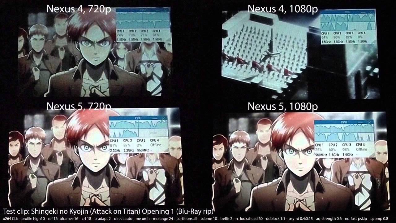 720p 1080p 10 bit video playback on nexus 5 youtube