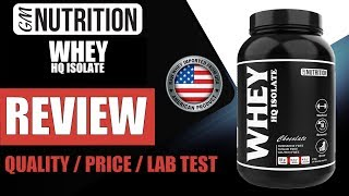 GM Nutrition presenting WHEY HQ ISOLATE - India's Top Quality & Most Authentic Whey by Guru Mann