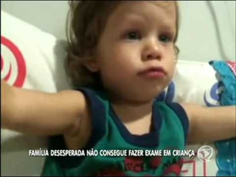 Menino de dois anos precisa de ressonância com urgência