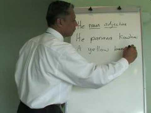 Maori Language Lessons - noun-adjective