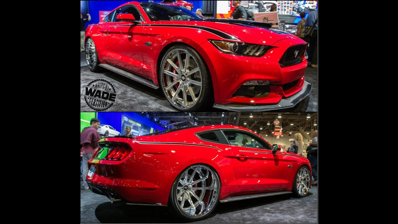 SEMA 2014 : 2015 Supercharged Mustang with 24x15 Wheels in ...