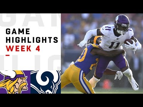 Vikings vs. Rams Week 4 Highlights   NFL 2018