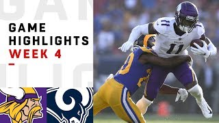 Vikings vs. Rams Week 4 Highlights | NFL 2018