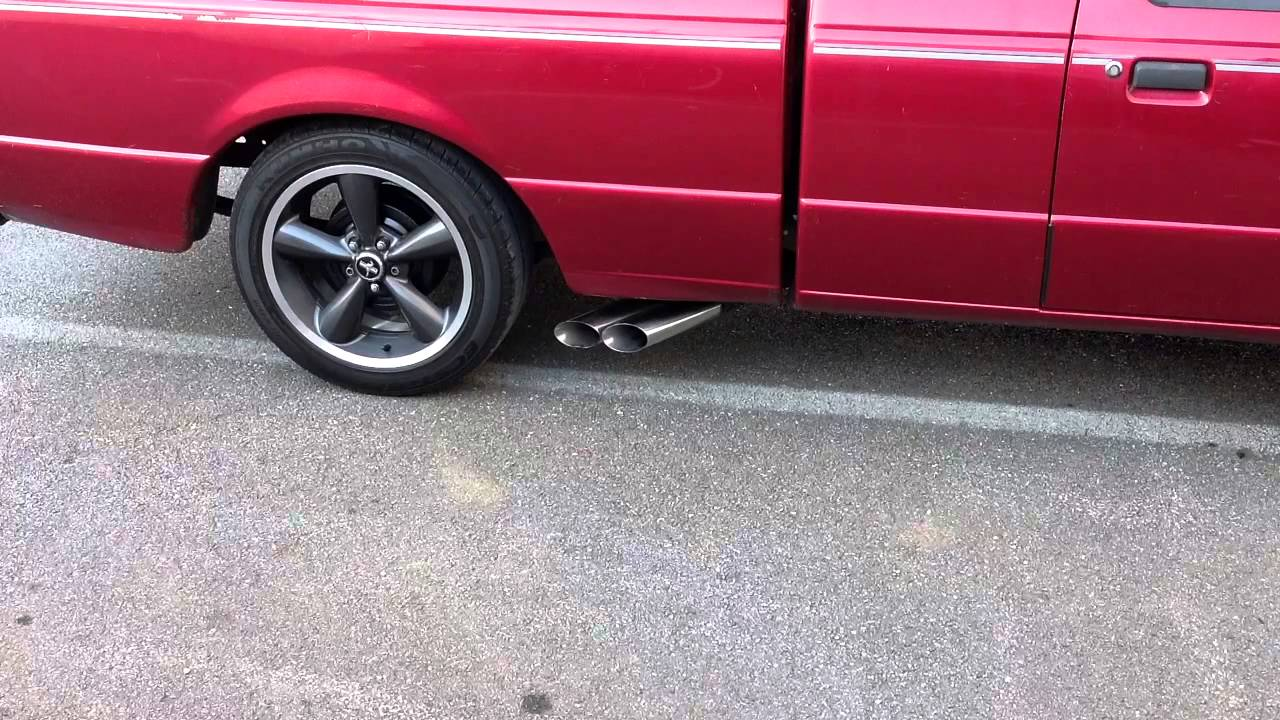Ford Ranger Exhaust Tip >> Ford Ranger 3.0 exhaust - flowmaster, gutted cats - YouTube