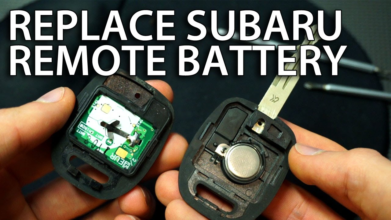 How to change battery in subaru key remote impreza forester cr1620 youtube