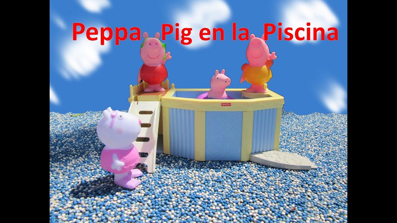 Peppa Pig en la Piscina con Jorge Pig Sussy Pato y Dino Disney