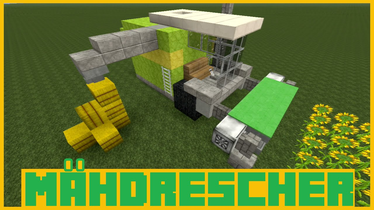 Minecraft Tutorial - Mähdrescher bauen ( Deutsch ) - YouTube