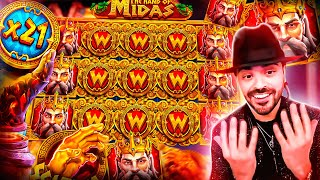 ROSHTEIN Insane Win 100.000€ on new slot  The Hand of Midas - TOP 5 Mega wins of the week