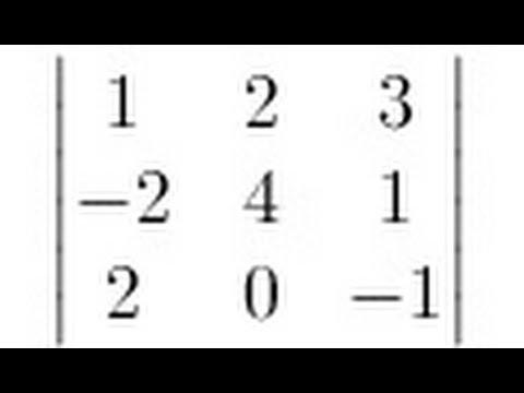Linear Algebra 3x3 Determinant