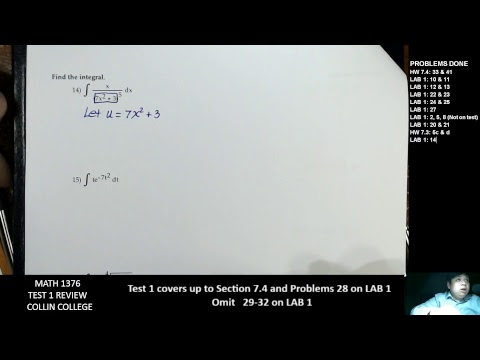 MATH 1376 Test 1 Review COLLIN COLLEGE