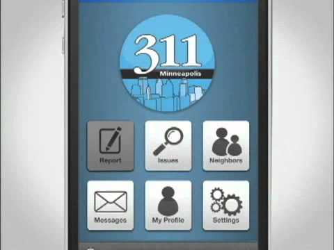 Minneapolis 311 has a mobile app for your smartphone