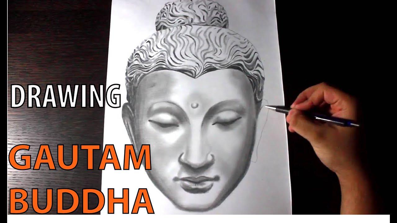 Gautam buddha speed art drawing sketching