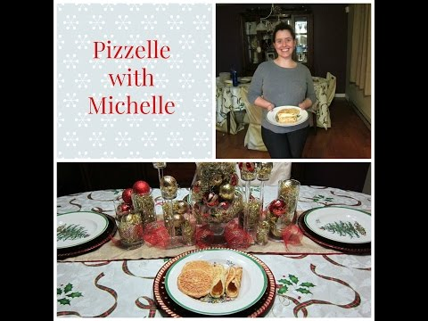 How to make pizzelle with Michelle.