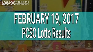 PCSO Lotto Results February 19, 2017 (6/58, 6/49, Swertres & EZ2)