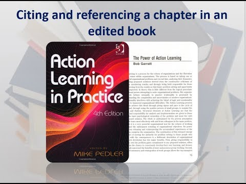 How To Cite And Reference A Chapter In An Edited Book