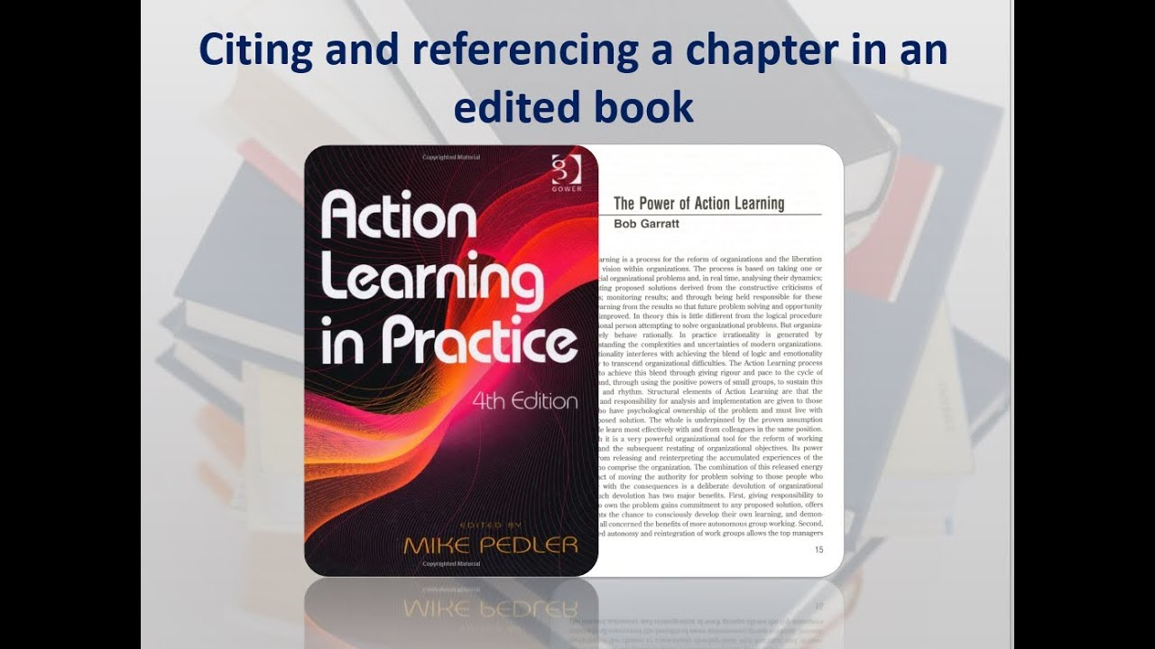 How to cite and reference a chapter in an edited book youtube how to cite and reference a chapter in an edited book ccuart Image collections