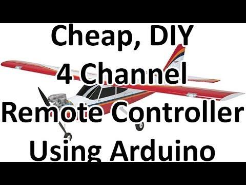 DIY RC Plane Transmitter – Receiver Using Arduino Demo