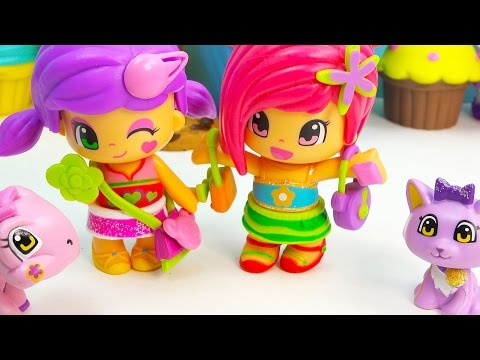 Pinypon Apple Star Carry Bag Plaset Dolls Pets Turtle Kitten Cat Set Review Cookieswirlc