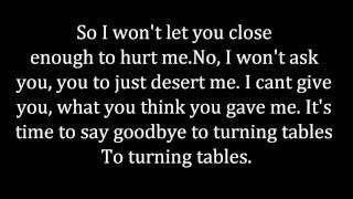 Adele - Turning Tables Lyrics
