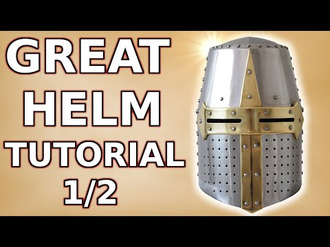 How to make a medieval helmet (part 1/2)