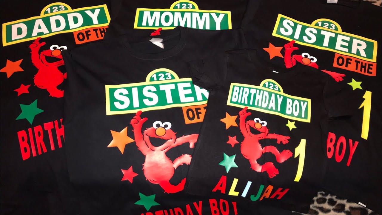 Sesame Street Elmo Birthday Shirts