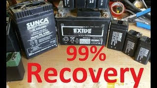 How To Recover   Repair Dead lead Acid Battery 4V 6V 12V At Home