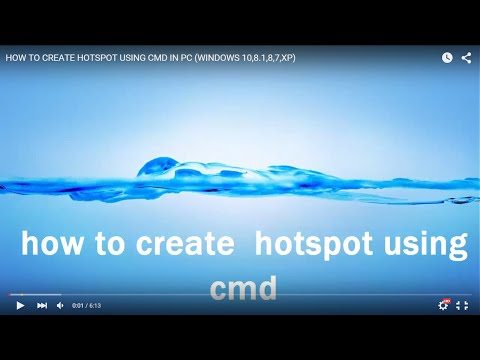 how to create hotspot in windows 7 using lan