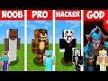 Minecraft Battle: NOOB vs PRO vs HACKER vs GOD   SCARY HORROR in Minecraft Animation
