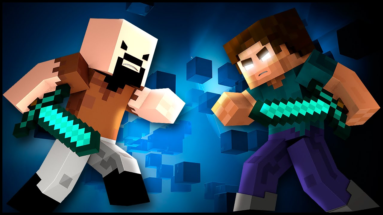 Notch Vs Herobrine Minecraft Animation Animacao Minecraft