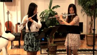 Opus 4 Studios: Michelle and Jiyoon perform Sonatina for 2 Flutes: Adagio - Hans Kohler