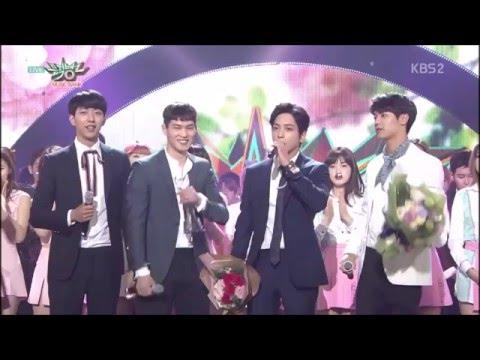 """[ซับไทย] 160415 CNBLUE 4nd Win for """"You're So Fine"""" on Music Bank"""