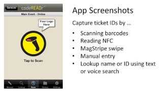 Scan tickets with smartphones
