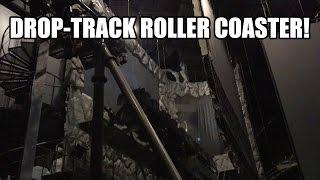 Darkmare Drop Track Roller Coaster POV! AWESOME!!! Cinecitta World Italy