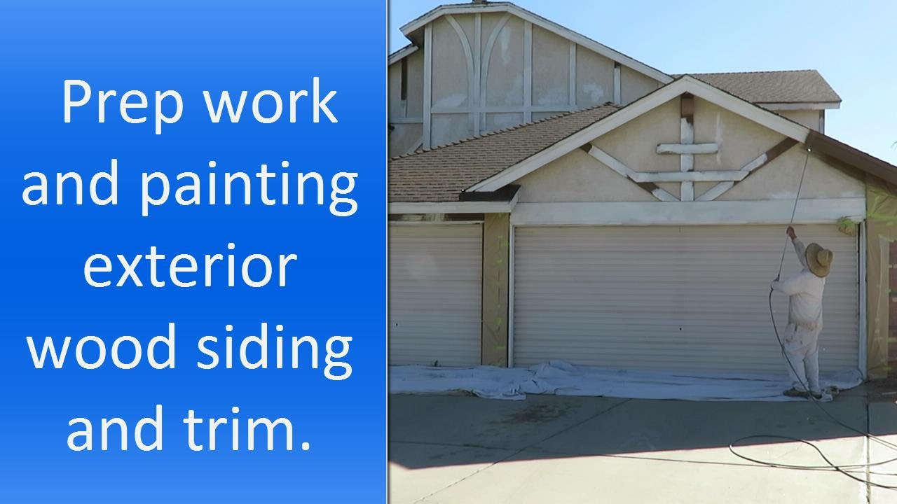 How To Paint Exterior Wood Siding And Trim.   YouTube