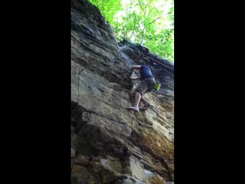"Rock Climbing ""Chips"" at The Ledges, Grand Ledge, MI"